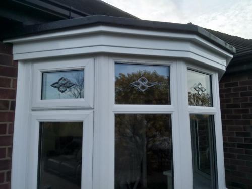 New bay window installation