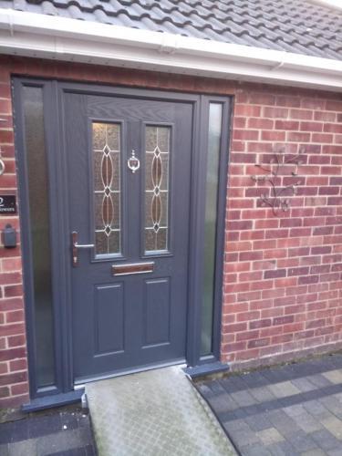 Brand new front door installation
