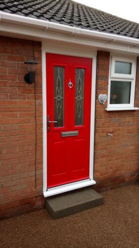 PVC door installation