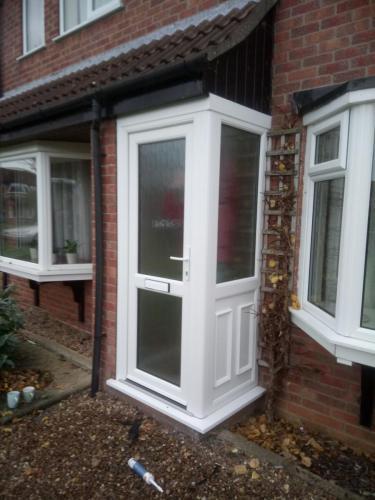 PVC Corner door and window